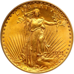 St. Gaudens Double Eagles coin