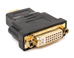Gold HDMI to DVI-D Connector