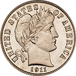 barber dime coin