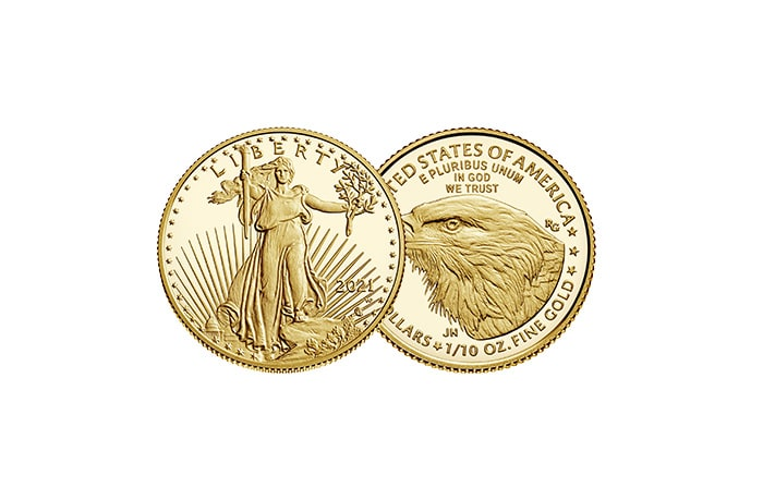 1/10 oz american eagle gold coin