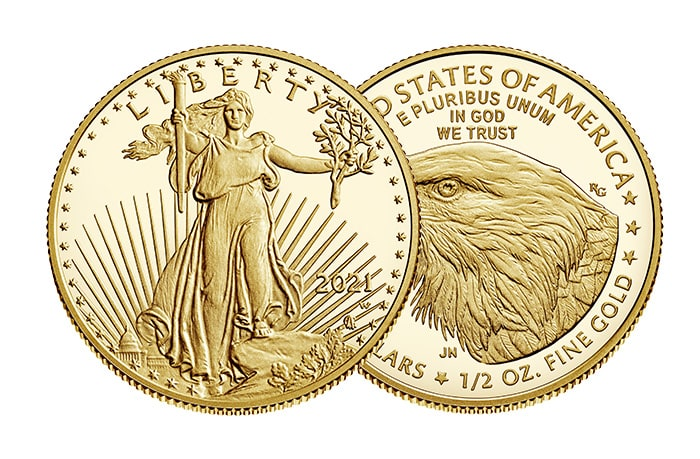 1/2 oz american eagle gold coin