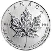 Canadian Maple Leaf Platinum Coin