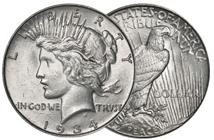 US Peace Dollar Coin