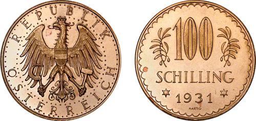100 Gold Schilling Austria