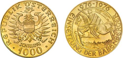 1000 Gold Schilling Austria