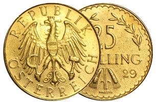 25 Gold Schilling Austria