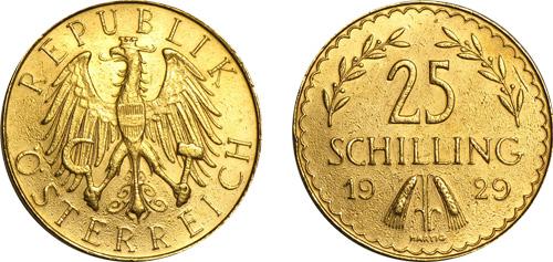 Austrian Gold Schilling Coin