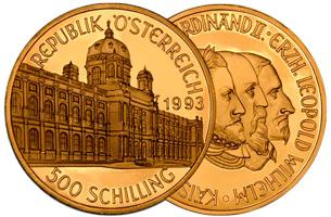 500 Gold Schilling Austria