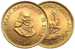 r2 gold coin 1962