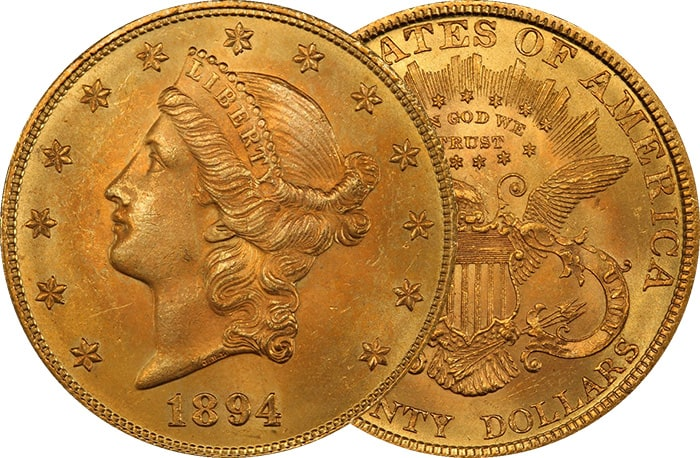 $20 Liberty Head Double Eagle Gold Coin