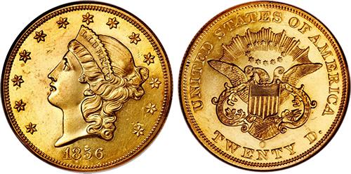 Twenty Dollar Liberty Head Double Eagle Coins Gold