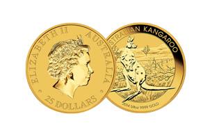 1/4 ounce australian gold kangaroo coin