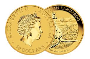 australina kangaroo gold coint 1/2 oz