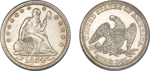seated liberty quarter coins