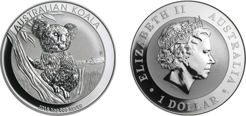 Perth Mint Australian Koala Silver Coin