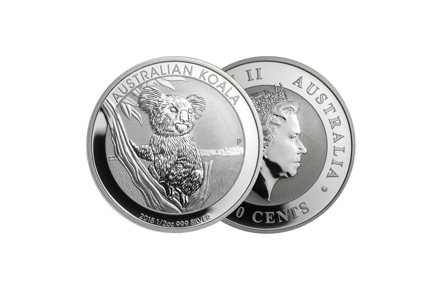 perth mint silver 1/2oz australian koala coin