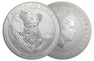 perth mint silver 1kg australian koala coin