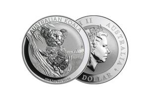 perth mint silver 1oz australian koala coin